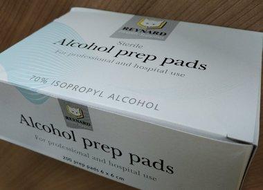 Prep Pad, Alkohol, 200 / Pkg