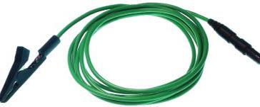 Wiederverwendbare Erdungskrokodilklemme ,1m (40inch) Silikon Draht, DIN42802 Stecker, 1 Stück pro Packung