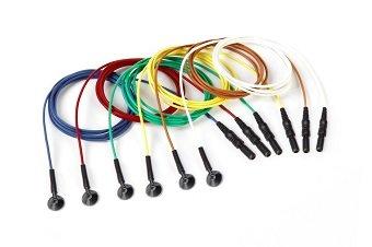 Wiederverwendbare EEG Napfelektrode ,Silber-Silber chloriert (Ag-AgCl), Erwachsener (10 mm Schale), multi Farbe, DIN42802 Stecker, 12 Stück pro Packung