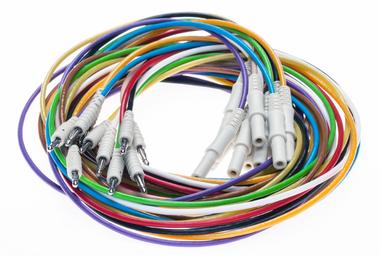 EEG-Anschlussleitungen, 2mm EEG-Leitung/ Sicherheitsstecker (DIN42802), 10/pkg