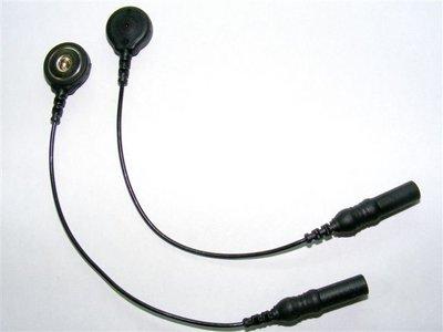 Satz von 2 X Male Sicherheit DIN-Stecker an SNAP-Adapter